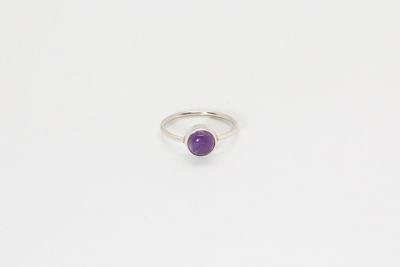 The boho society - Bague Anya | Anya ring - Bague argent sterling 925 et améthyste- 925 sterling silver ring & amethyst