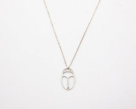 collier femme argent pendentif scarabee egyptien  - bijoux createur - bijoux boheme - boho chic - the boho society