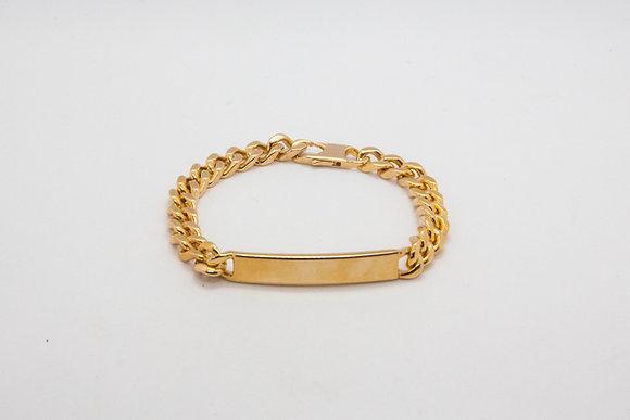 The boho society-gourmette chaine plaqué or-bracelet fantaisie bling bling