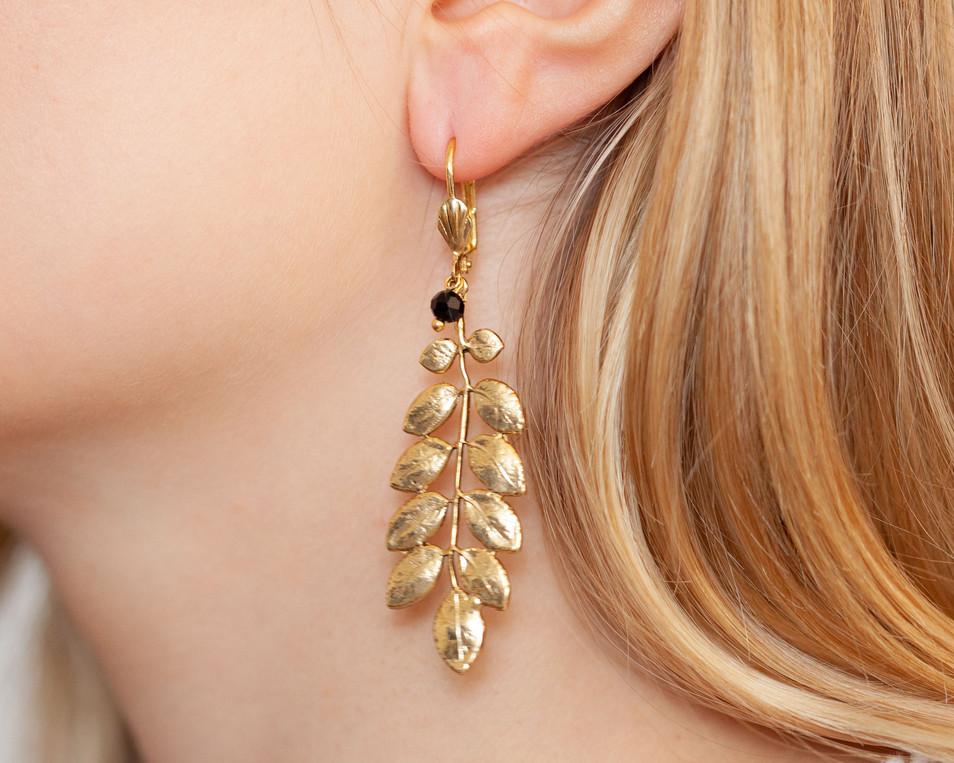 boucles d oreilles plaque or lotta djoss