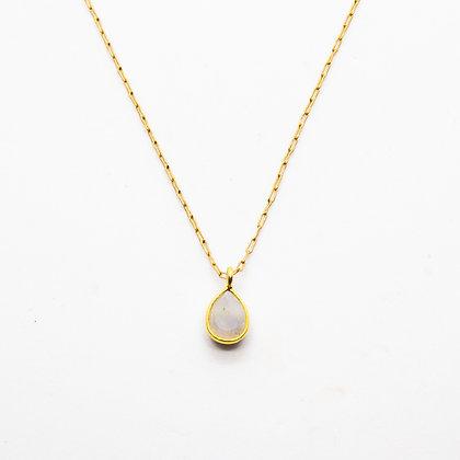 Demi collier Pierre de lune | Demi moonstone necklace