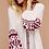The boho society - robe kaftan brodée blanc - boheme chic