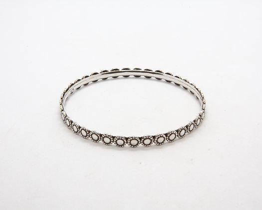 Bracelet argent Nelson | Nelson silver bangle