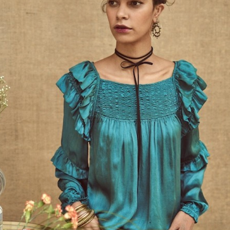Mode bohème   Smocks et volants pour la blouse Bagua par Stephanie Vaille