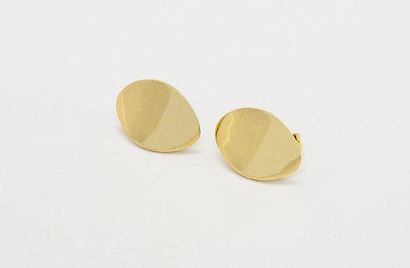 Sabi | Boucles d'oreilles de createur en laiton massif