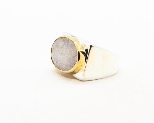 Bague femme argent et pierre de lune - bijoux créateur canyon - boho chic - the boho society
