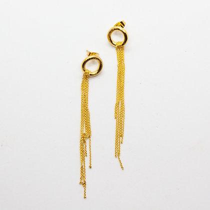 Meline | Boucles d'oreilles dorées à l'or fin 24k