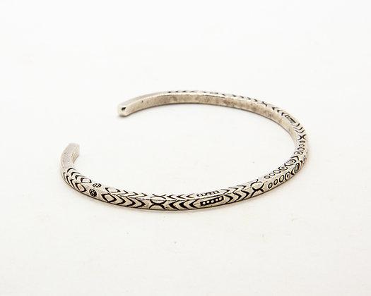 bracelet homme argent - bracelet jonc ethnique homme- boho chic - bijoux createur - the boho society