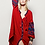 The boho society - robe kaftan brodée rouge bordeaux - hippie chic