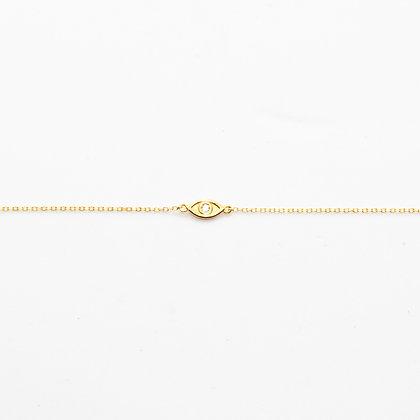Joan | Bracelet oeil de la chance en or 14 carats