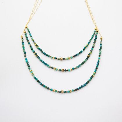 Kira - Collier sautoir Turquoise | Kira turquoise necklace