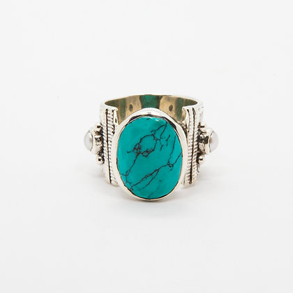Apache bague argent Turquoise | Apache silver ring Turquoise
