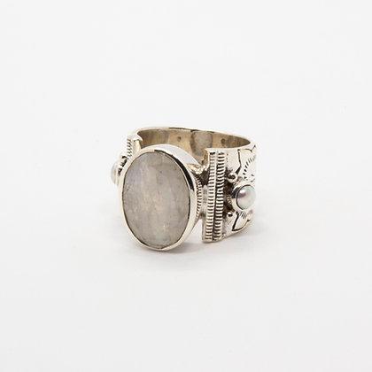 Apache bague argent pierre de lune | Apache silver ring moonstone