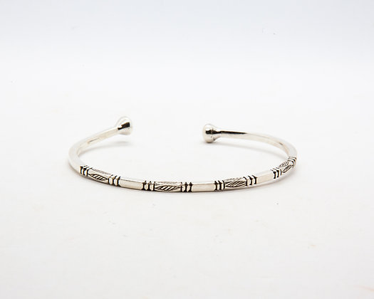 bracelet touareg argent - bracelet ethnique argent - bijoux boho - bijoux boheme - the boho society