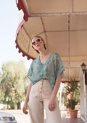 Blouse goya - blouse boheme en soie - tenue boheme chic femme- Louise Misha - the boho society