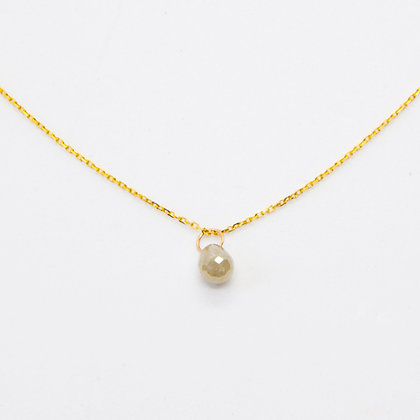 Nuage Collier Or 18 carats Diamant gris | Gold necklace 18K & Grey Diamond