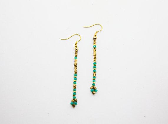 boucles oreilles boheme- boucles oreilles turquoise créateur - nataraj - the boho society