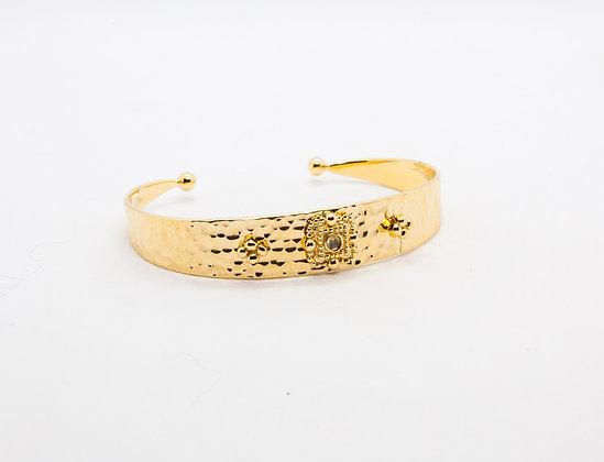 bracelet tendance plaqué or- bracelet boheme chic - bijou de createur -  the boho society