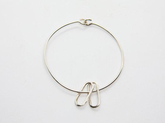 the boho society-bracelet fantaisie argent-bracelet de createur - anneau martelé en argent