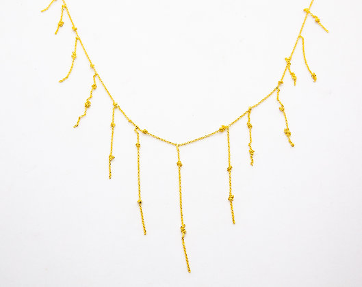 collier plaqué or fantaisie- collier créateur - laure mory - the boho society