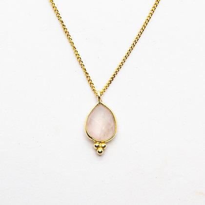 Demi collier quartz rose | Demi pink quartz necklace