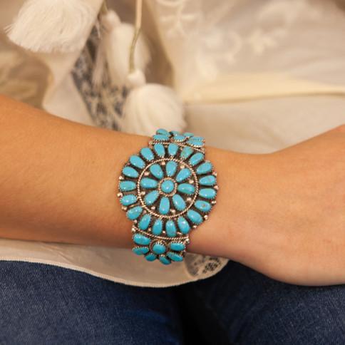 bracelet en argent navajo - bracelet eth
