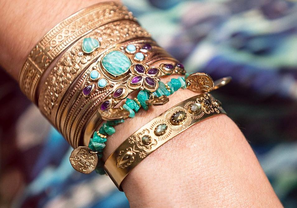 bracelet manchette l atelier plume - bij