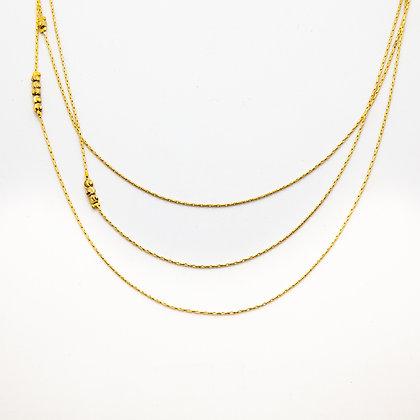 Thadee collier sautoir triple rang | Thadee long necklace