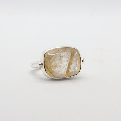 Calypso bague argent quartz rutile  | Calypso ring