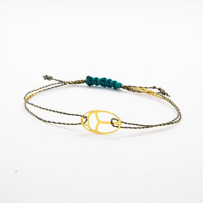 Scarabee | Bracelet scarabee égyptien en or 14 carats