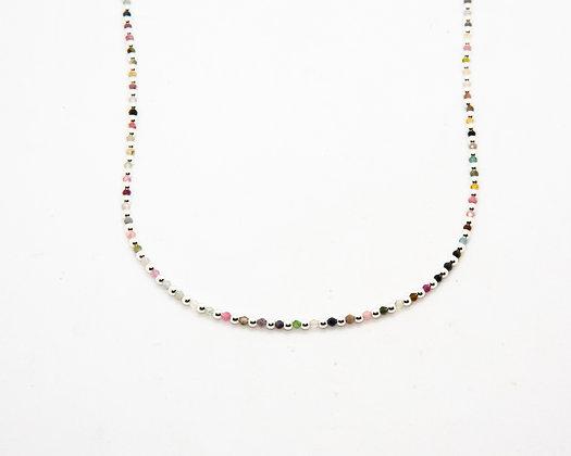 collier perles argent et tourmaline - collier boheme - bijoux bohème - bijoux createur - bijoux boho - the boho society