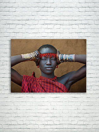 Bodi woman with her bangles - Ethiopia