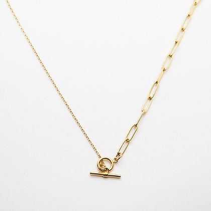 Tasha | Collier de créateur plaqué or maille rectangle
