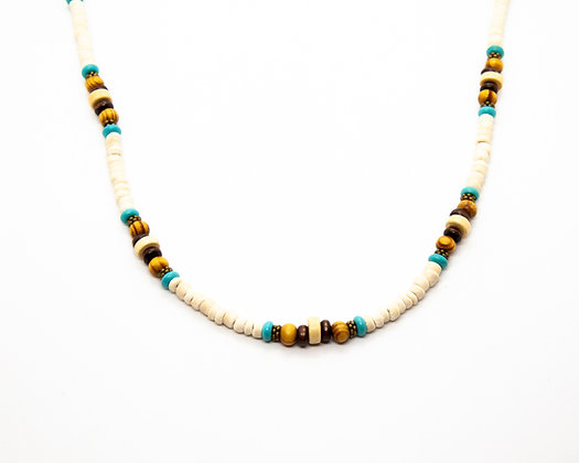 Collier surfer - collier homme perles naturelles - collier boho chic - bijoux boheme - bijoux homme - the boho society