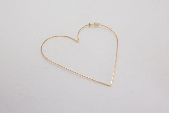 The boho society–boucles d'oreilles createur-bijou coeur pour femme–minimaliste-creoles–boho chic–cadeau pour femme creoles