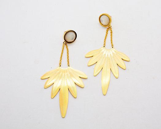 boucles d oreilles acier inoxydable- bijoux bohème - bijoux createur - bijoux boho - the boho society