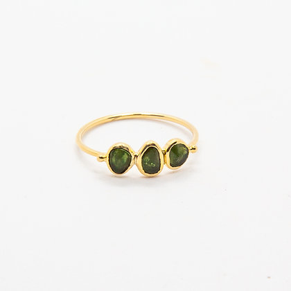 Tess bague Or et Tourmaline verte | Tess Gold 9k Green Tourmaline