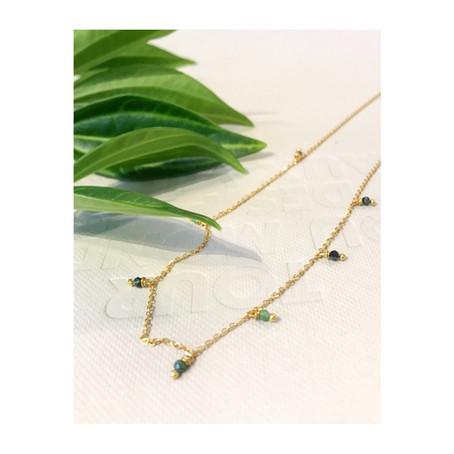 Bijoux createur | Le collier Mara en or 14 carats et rubis zoïsite...