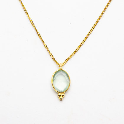 Demi collier calcédoine | Demi chalcedony necklace