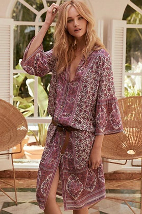 Robe kaftan boho rose | Boho kaftan dress