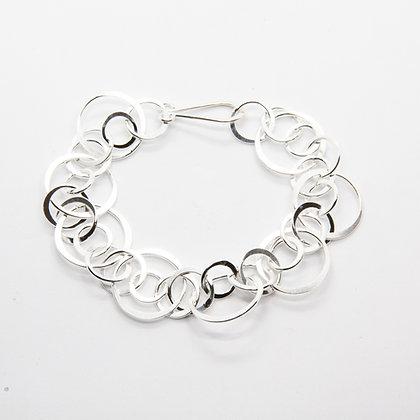 Andy | Bracelet maille large en argent 925