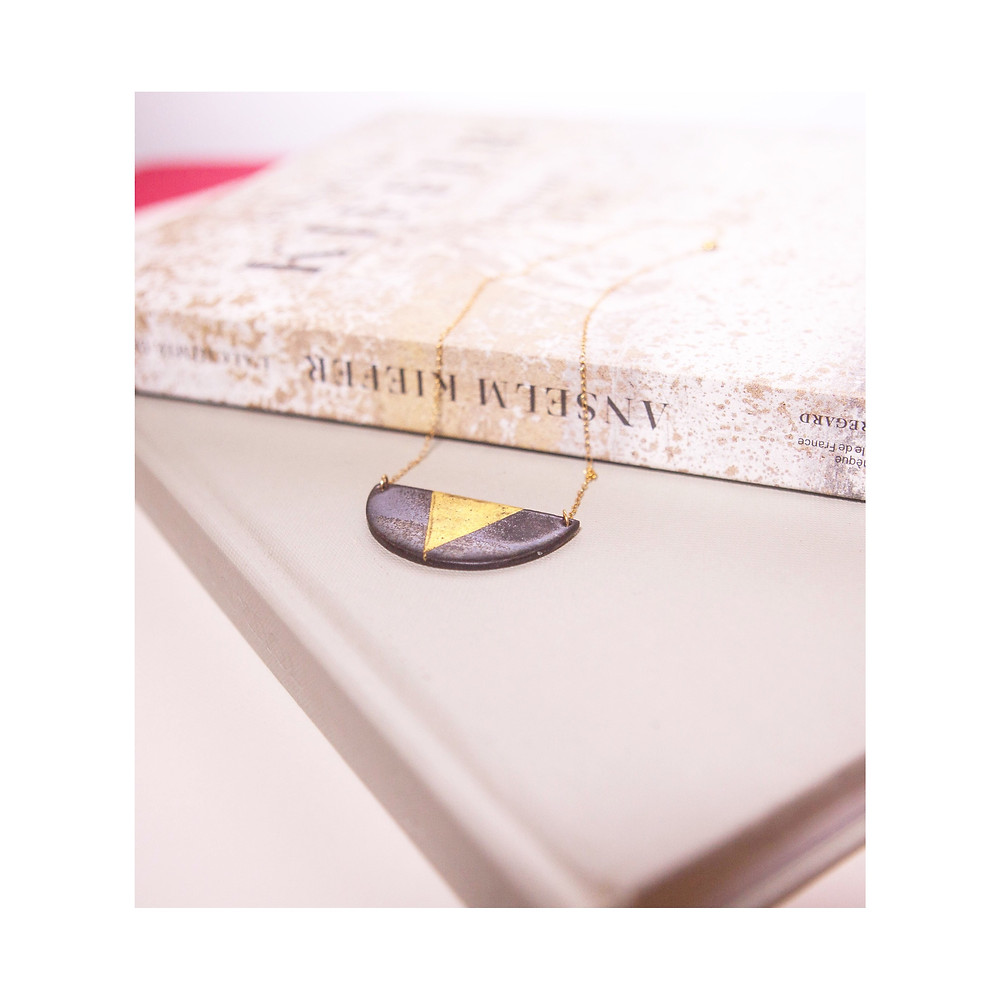 collier plaque or gold filled 14 K - the boho society