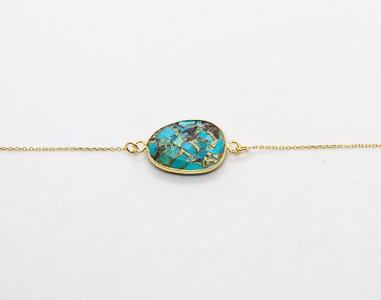 bracelet boheme plaqué or et pierre fine- bracelet boheme chic - bijou de createur -  the boho society