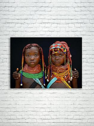 Two Mumuhuilas little girls - Angola