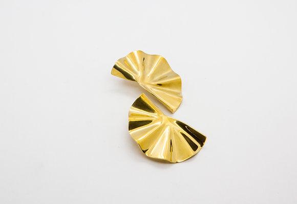 boucles oreilles fait main plaque or - boucles oreille laiton - bijoux createur soko-bijoux laiton soko - the boho society