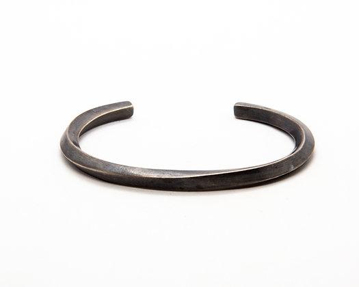 bracelet homme argent - bracelet jonc argent oxyde homme- boho chic - bijoux createur - the boho society