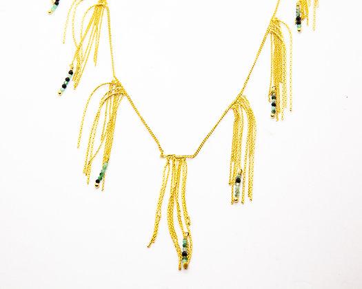 collier fin plaque or - laure Mory - bijoux createur - bijoux boheme - the boho society