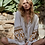 The boho society - robe kaftan brodée blanc - ethnique chic