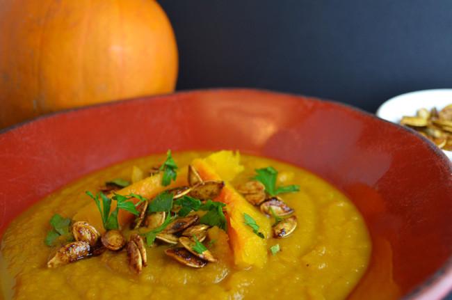 yummy pumpkin soup!