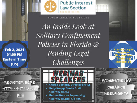An Inside Look at Solitary Confinement Policies in Florida & Pending Legal Challenges